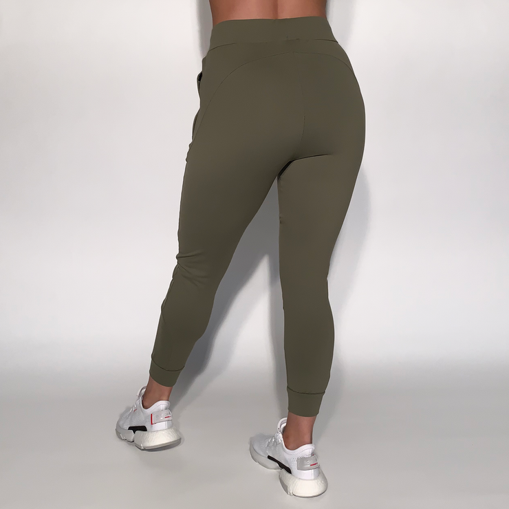 Stretch Joggers - Olive - Skywear
