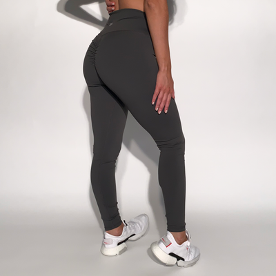 Mantra Scrunch Leggings - Slate Grey - Skywear