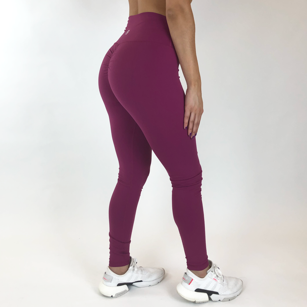 Mantra Scrunch Leggings - Magenta - Skywear