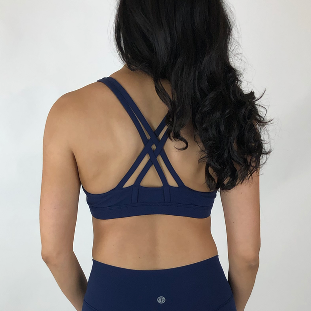 Mandala Sports Bra - Navy - Skywear
