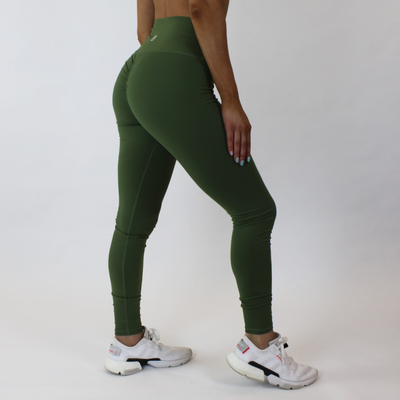 Mantra Scrunch Leggings - Olive - Skywear