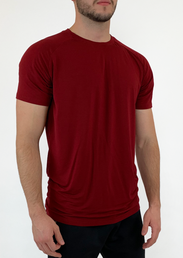 Stretch Tee - Burgundy