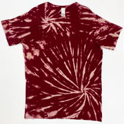 Stretch Tee - Burgundy Tie Dye