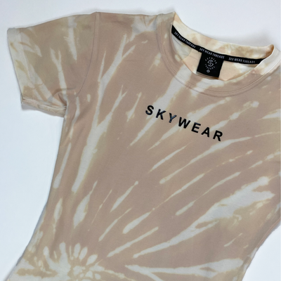 Fitted Tee - Champagne Tie Dye