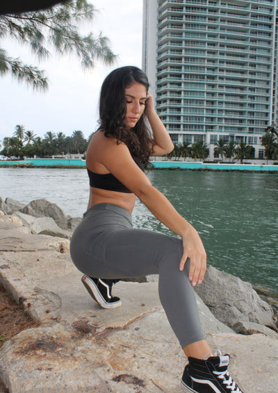 Sedona Pocket Legging - Slate Grey