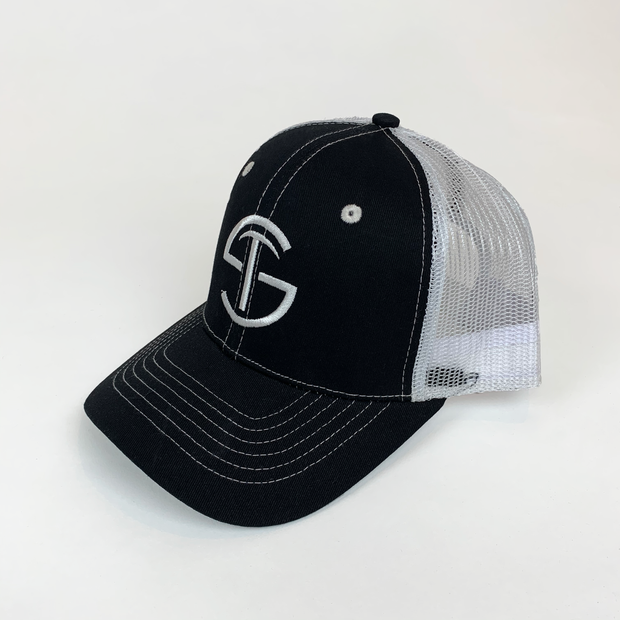 Trucker Hat - Black & White - Skywear