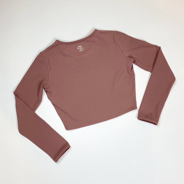 Cropped Long Sleeve - Dusty Mauve