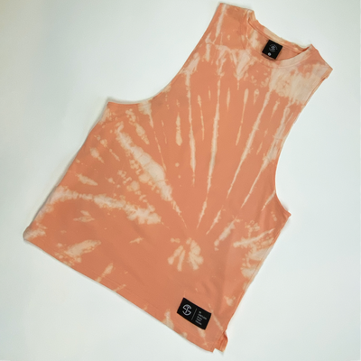 Performance Tank - Peach Tie Dye
