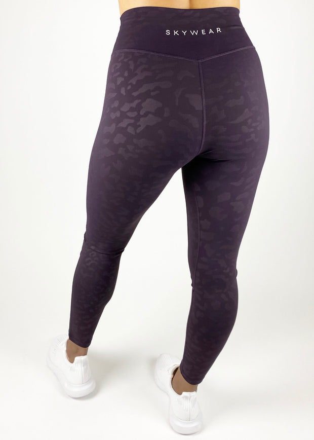 Bloom Legging - Purple Leopard