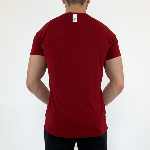Stretch Tee - Burgundy - Skywear