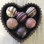 Edible Heart Box w/ 6 Truffles