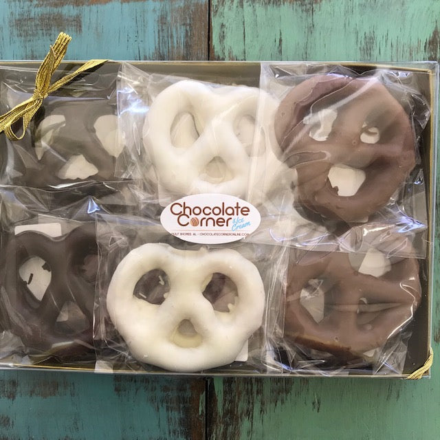 Hand Dipped Pretzel Box 12 pack