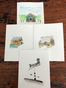 OH, Greeting cards! (series of 4 cards featuring Everything Estancia!)