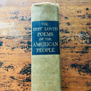 "1936 ""Best loved Poems of The American People"""