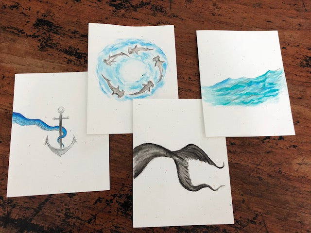 OH, Greeting cards! (series of 4 cards featuring Oceanic Treasures)