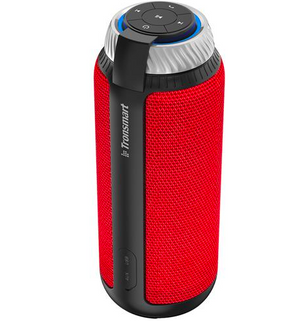 Tronsmart Element T6 25W Portable Bluetooth Speaker with 360 Degree Stereo Sound and Built-in Microphone - Red