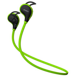 Joway H12 Wireless Bluetooth V4.1 Stereo Headphones with Mic Noise Cancelling - Green