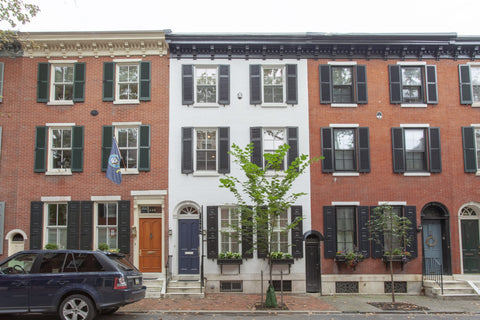 Cookie-cutter rowhouses, in Philadelphia