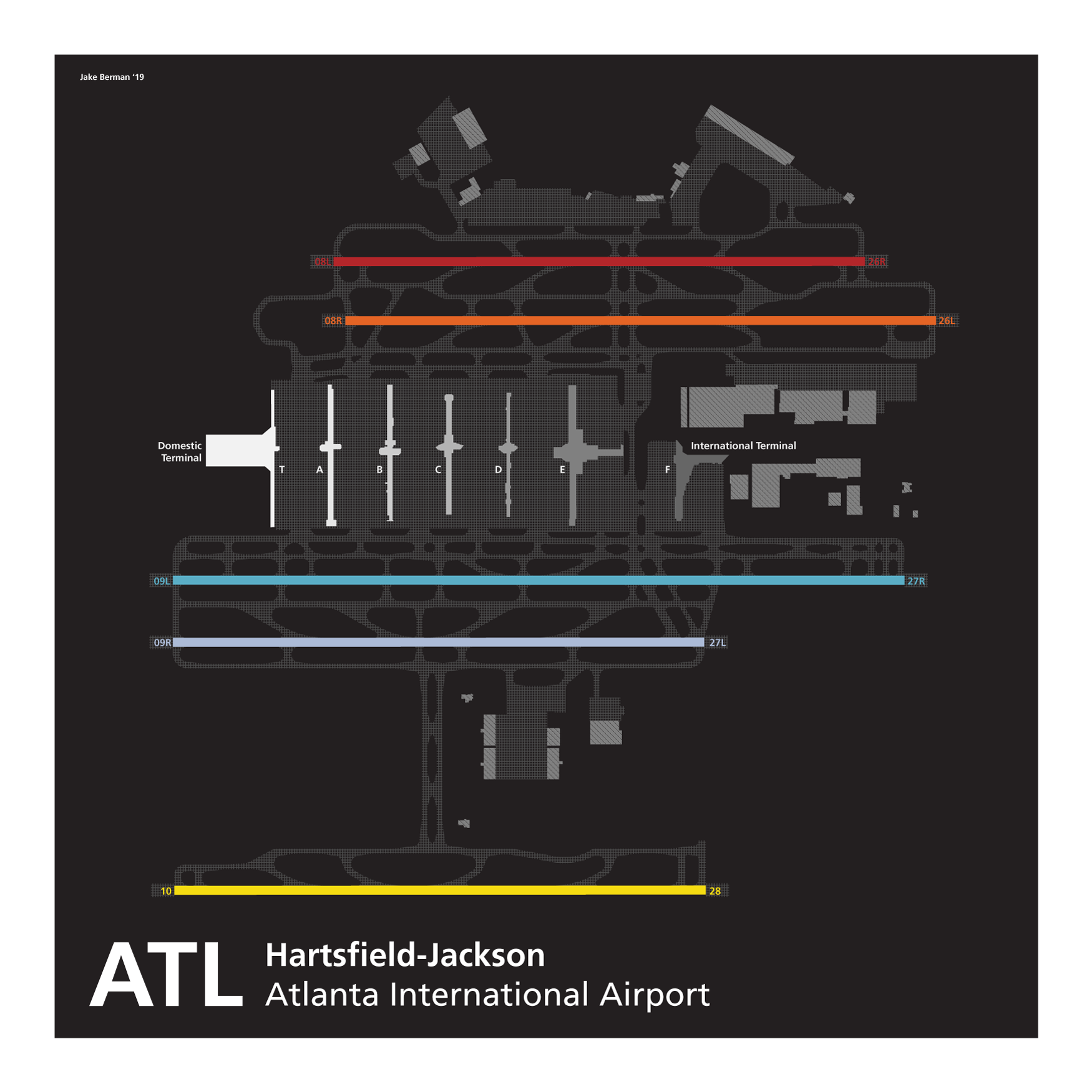 Atlanta Hartsfield-Jackson International Airport map