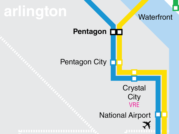 Washington Metro map print
