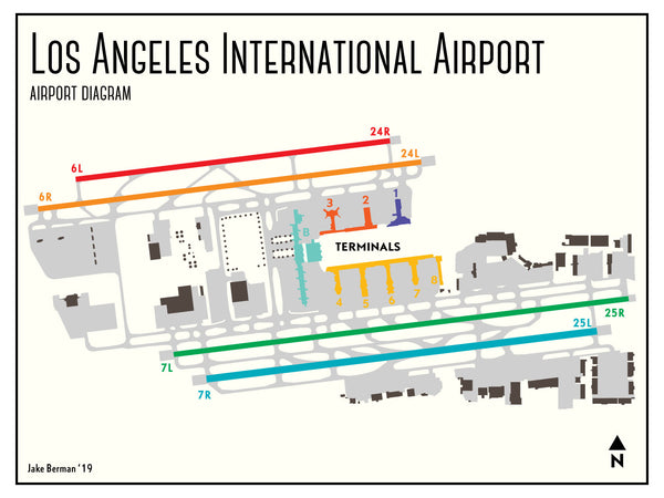Los Angeles International Airport map