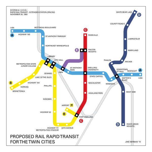 Minneapolis-St. Paul subway proposal, 1969