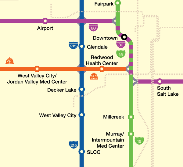 Salt Lake City freeway system map