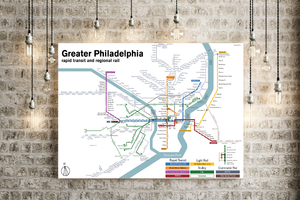 Greater Philadelphia rapid transit map