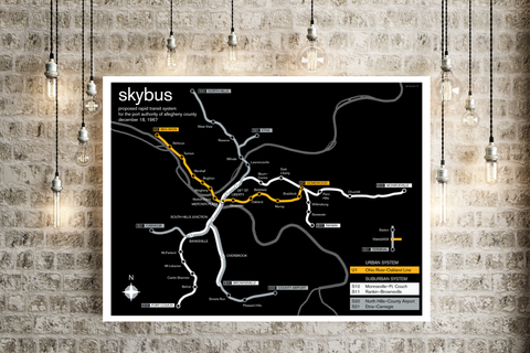Pittsburgh proposed SkyBus rapid transit plan, 1967