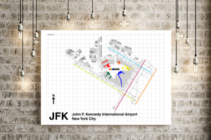 JFK Airport, New York City map