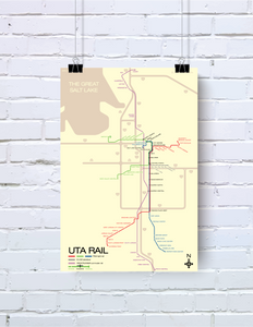 Salt Lake City UTA TRAX light rail map
