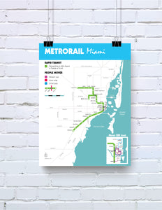 Miami Metrorail and Metromover system map