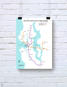 Seattle Metropolitan Rapid Transit map proposal - 1970