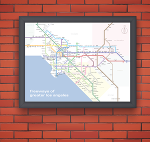 Greater Los Angeles freeway system map