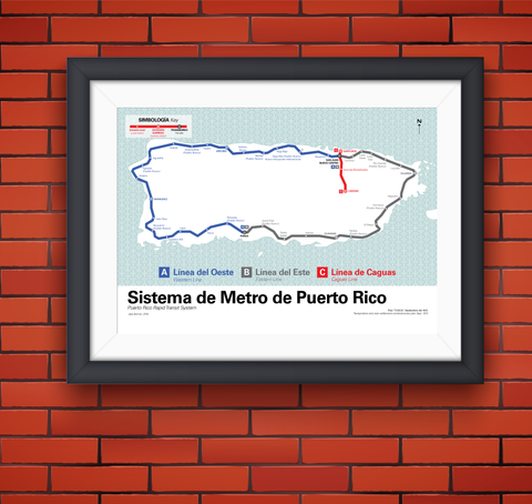 Puerto Rico's planned island-wide rapid transit system, 1972