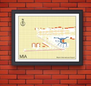Miami International Airport map