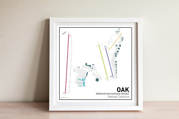 Oakland International Airport map