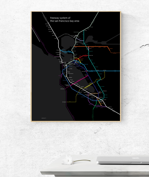 San Francisco Bay Area freeway system map