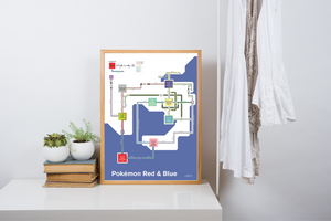 Map of Pokemon Red & Blue (Kanto)