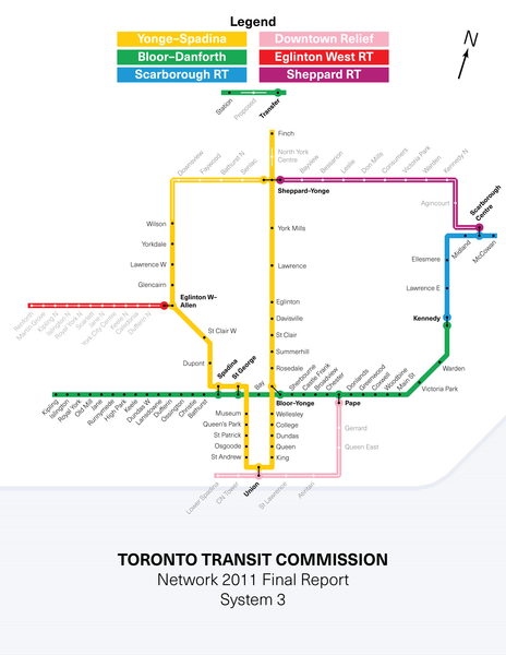 Toronto Subway expansion plan, 1985