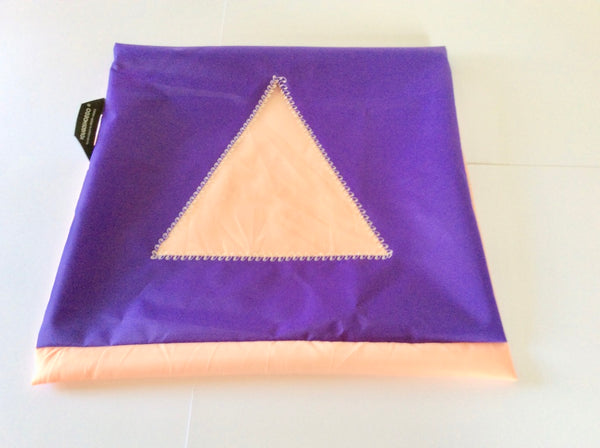 Shoe pouch with a triangular window