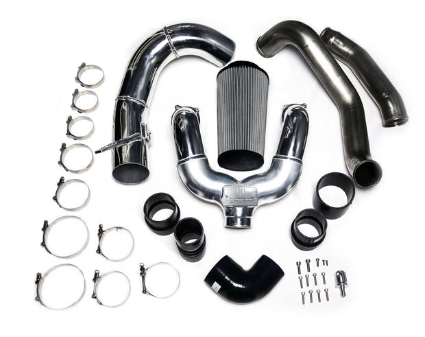 2011-2014 FORD 6.7L POWERSTROKE INTERCOOLER PIPING KIT (RAW FINISH)