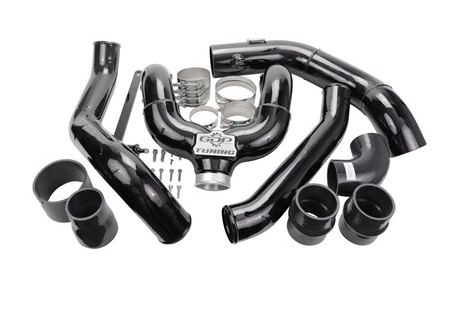 2017-2019 FORD 6.7L POWERSTROKE INTERCOOLER PIPING KIT (BLACK FINISH)