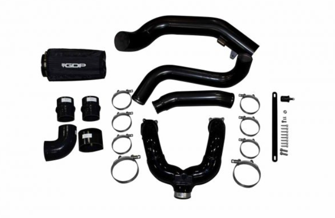 2015-2016 FORD 6.7L POWERSTROKE INTERCOOLER PIPING KIT (BLACK FINISH)