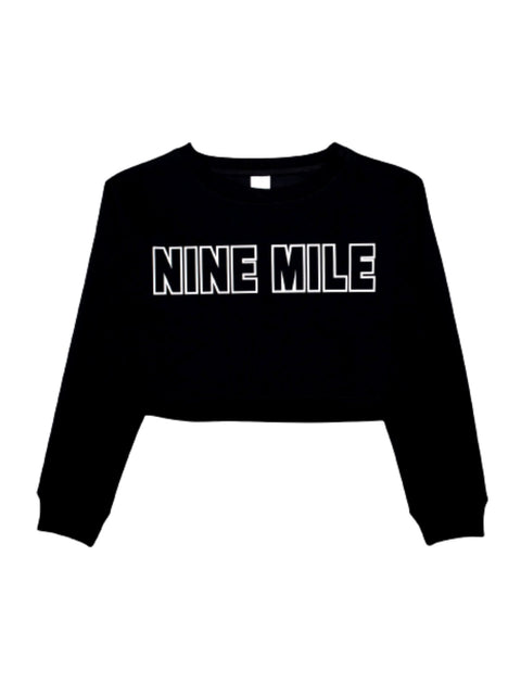 Nine Mile White Outline Sweatshirt