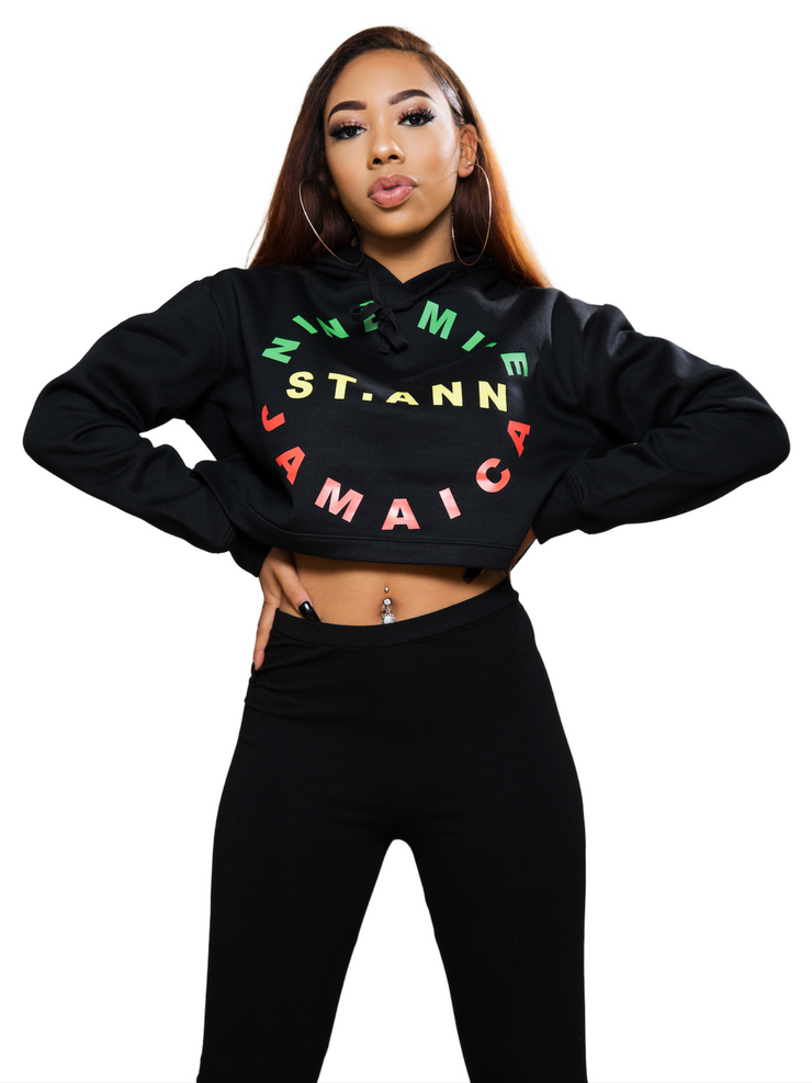 Nine Mile Reggae Circle Cropped Hoodie