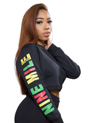 Nine Mile Reggae Sleeve Crop Sweatshirt