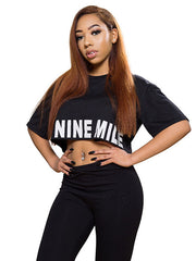 Boxy Hem Nine Mile Jamaica Crop Top