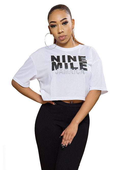Boxy Nine Mile Jamaica Crop Top