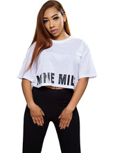 Boxy Nine Mile Digital Print Crop Top